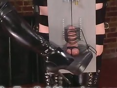 Merciless bitch pounded her slave's ass with her strapon