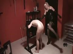 Disobedient dude got painful handjob