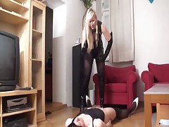 Dominatrix and her fucks with a stranger