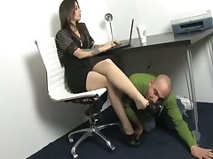 Foot worshiping boy is in trouble