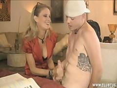 Erotic MILF Bridget Lee prostate milking upper case heavy bushwa
