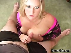 Naughty babe Summer fingering ass and stroking big cock