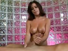 Nasty babe Rita Fatolyana takes cock in hands