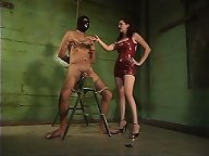 Latex dominatrix humiliated slaveboy
