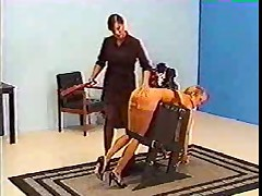 Blonde Bondage and spanking