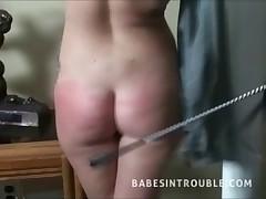 Spanking a slut
