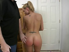 Spanked wife gets her ass red by amateur boyfriend filming