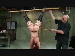 Flabby Ass Suspended Spanked And Toyed
