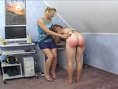 Pussy Stuffed And Ass Spanked!!!!!!!
