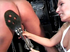 CFNM Mistress Spanks & Milks Cock