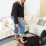 Lady Cathy trample slave