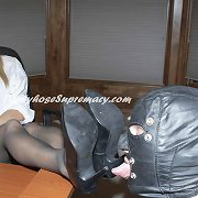 Blonde mistress tormented malesub