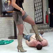 Mistress dominated man by feet