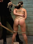 Gorgeous slave girl trained to serve sadistic Masters