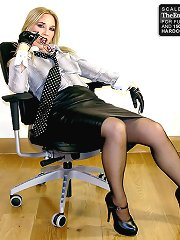 Office domme with strapon