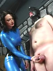 Blue Latex Mistress