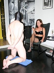 A plump mistress shows her hung slave exactly who is in complete control