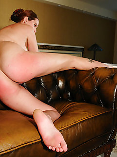 <!–-IMAGE_COUNT-–> of Punished Audrey on the sofa