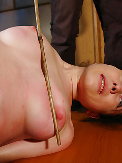 <!–-IMAGE_COUNT-–> of Spanked and whipped Rose in bondage