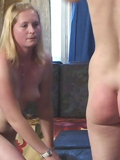 10 of Two Girls Punishment with Big Wooden Spoon