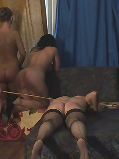 <!–-IMAGE_COUNT-–> of Caning on the Trembling Ass