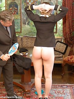 <!–-IMAGE_COUNT-–> of Spanked bare bottom with a ping pong paddle