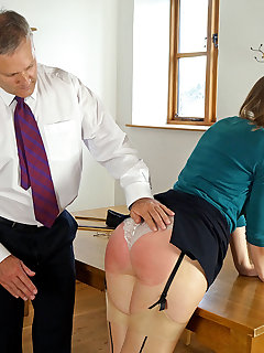 <!–-IMAGE_COUNT-–> of Headmaster bares his bottom