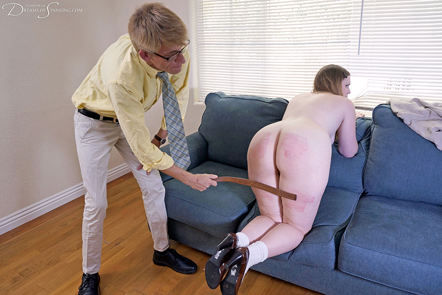 Can Spanked with a leather strap speaking