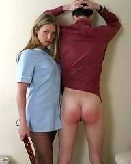 Wife spanked bad husband