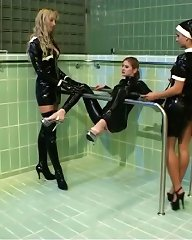This latex spa offers a whole variety of treatment packages for the most bizarre desires