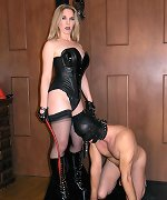 Mistress Darla has fun breaking in her new ponyboy