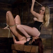 Whipped Ass - Tall busty women in lesbian bdsm