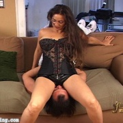 Jacklyn ties her victim and grinds her sexy ass into his face until he\'s thrashing for escape