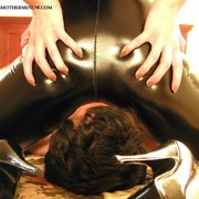 The sexiest mistress sitting on slave