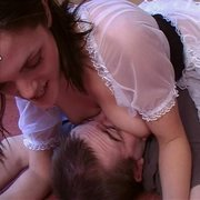 Maid facesit and smother male