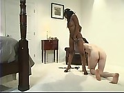 Mistress Stacy Cash fucks Judas in the ass