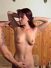 Young woman tormented and whipped