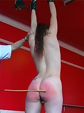 Suspended and caned