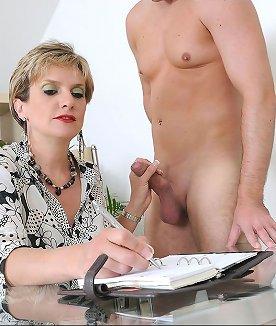 Cfnm mature teasing naked stud