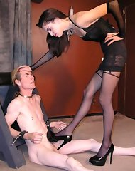 Trampling and cock torture action
