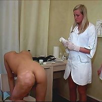 Naked guys were made masturbate by perverted doctors