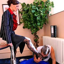Footdom and tortures in office