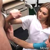 Medical cfnm handjob by two girls