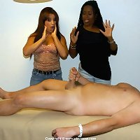 CFNM massage with two women