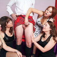 Four cuties resolve to discover out what Scotsmen wear beneath their kilts