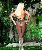 Blonde in jungle