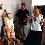Severe spanking and caning in school