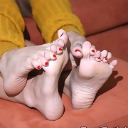 They fucked each other silly with their feet and both had numerous orgasms