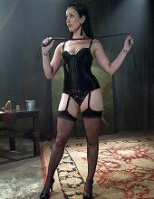Cruel femme fatale educates a bitch boy in the art of CBT, chastity and tease and denial!