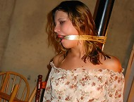 Girl was gagged and tied for punishment